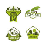 Vector icons for Earth Day and save planet nature. Earth Day vector icons set for green nature protection and save planet or ecology conservation concept. Design vector illustration