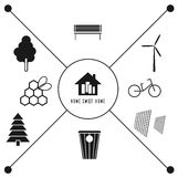 Vector icons ecology Royalty Free Stock Images