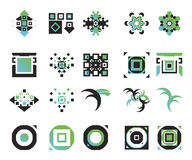 Vector icons - elements 1. Useful vector shape icons - illustrations Royalty Free Stock Image