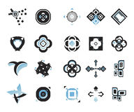 Vector icons - elements 15. Useful vector shape icons - illustrations Royalty Free Stock Photos