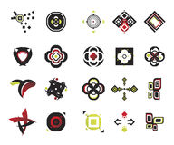 Vector icons - elements 17. Useful vector shape icons - illustrations Stock Images