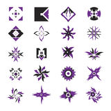 Vector icons - elements 20. Useful vector shape icons - illustrations Stock Photo