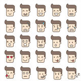 Vector icons  emotion faces  man Royalty Free Stock Image