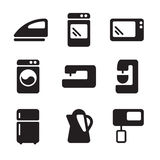Vector icons equipment. Simple black vector icons equipment Royalty Free Stock Photography
