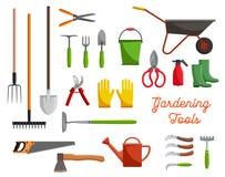 Vector icons of farm gardening tools Royalty Free Stock Photos