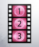 Vector icons of film. eps10, and transparency. Arial text in curves Stock Photo