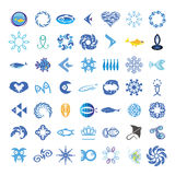 Vector icons with the fishes Royalty Free Stock Images