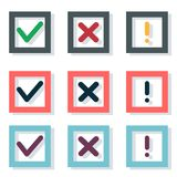 Vector Icons. In a flat design Royalty Free Stock Image