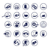 Vector icons of food Royalty Free Stock Image