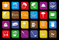 Vector icons. Food concept. Stock Photography