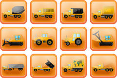 vector icons in the form of buttons Royalty Free Stock Image