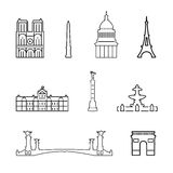 Vector icons of France Royalty Free Stock Photos