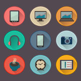 Vector icons for freelance and business Royalty Free Stock Photos