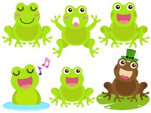 Vector Icons : Frog in the pond Stock Photos