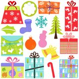 Vector Icons : Gift Boxes (present), Christmas the Royalty Free Stock Photography