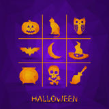 Vector icons for halloween Royalty Free Stock Image