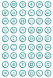 Vector icons Stock Photography