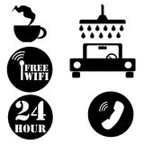 Vector icons illustration for carwasher Royalty Free Stock Image