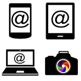 Vector icons Royalty Free Stock Photography