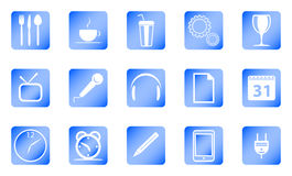 Vector icons. Vector image - set icon blue Royalty Free Stock Photography