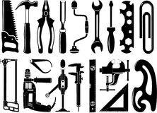 Vector icons of instruments Royalty Free Stock Image