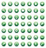Vector icons for interface Stock Image