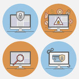 Vector icons Internet security Royalty Free Stock Photography