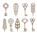 Vector Icons Keys Royalty Free Stock Photography