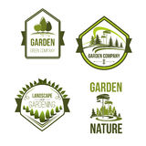 Vector icons for landscape or gardening company Royalty Free Stock Image