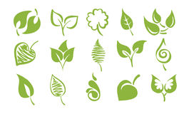 Vector icons - Leaves. Ector illustration - a set of abstract icons on the theme of leaves royalty free illustration