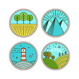 Vector icons and logo design elements Stock Image
