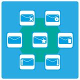 Vector icons mail Stock Photography