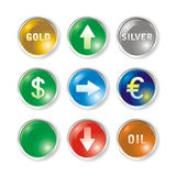Vector icons by marks rates. Vector round icons by marks rates Stock Images