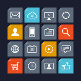 Vector icons in metro style Royalty Free Stock Images
