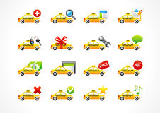 Vector icons online taxi phone call business. Royalty Free Stock Photos
