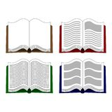 Vector icons with open books in a flat style. Study and knowledge, library and education, science and literature. vector illustration