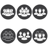 Vector icons people team. Vector set of round icon people team Royalty Free Stock Photography