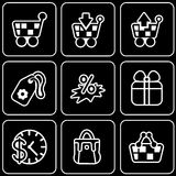 Vector icons - Purchases, shop, discounts Stock Photos