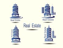Vector icons for real estate construction.Vector icons of architecture, urban and suburban homes. For real estate construction.Vector icons of architecture Royalty Free Stock Photos