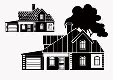 Vector icons for real estate construction.Vector icons of architecture, urban royalty free stock photo