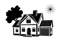 Vector icons for real estate construction.Vector icons of architecture, urban stock photos