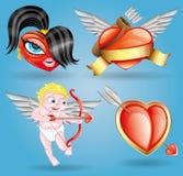 Vector icons. Romantic set. royalty free illustration