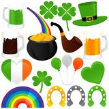 Vector Icons : Saint Patrick's Day, cold Stock Image