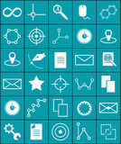 Vector icons science and graphics Royalty Free Stock Photography
