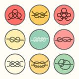 Sea Knots - Vector Outline Icons Royalty Free Stock Image