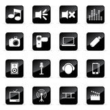 Vector icons set. Web and media vector icon (Set 12 Royalty Free Stock Photography