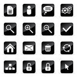 Vector icons set. Web and media vector icon (Set 4 Stock Image