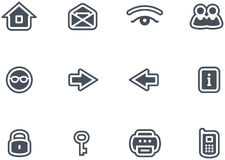 Vector Icons Set. Original vector icons for web, software etc. on white background Royalty Free Stock Image