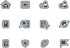 Vector Icons Set Royalty Free Stock Images