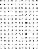 Vector icons set Stock Photo